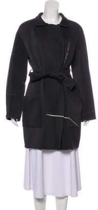 Akris Knee-Length Wool Coat