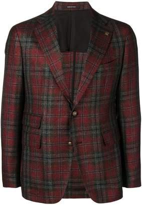 Tagliatore tartan pattern blazer
