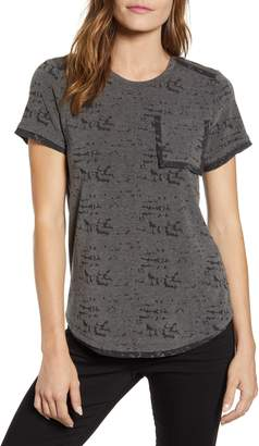 Vince Camuto Distressed Melange Jersey Tee