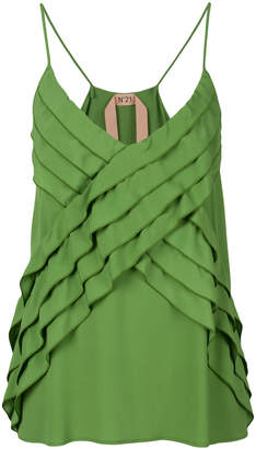No.21 pleated tank top
