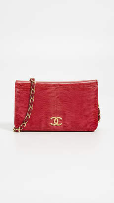 Chanel What Goes Around Comes Around Red Lizard Snap Small Bag