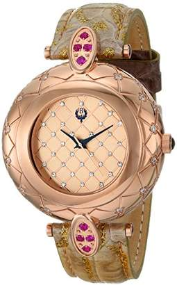 Brillier Women's 30-03 Analog Display Swiss Quartz Brown Watch