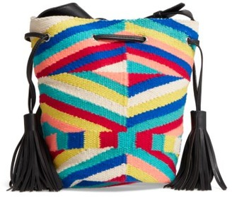 Rebecca Minkoff Wonderland Tassel Bucket Bag - Black $125 thestylecure.com