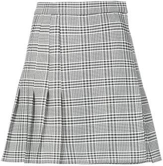 Tome plaid flared mini skirt