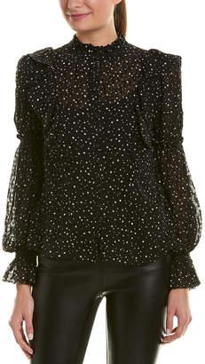 Rebecca Taylor Star Ruffle Silk-Blend Top