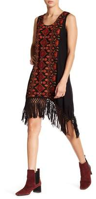 Raga Firelight Embroidered Sharkbite Hem Dress