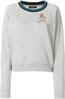 Diesel back motif sweater