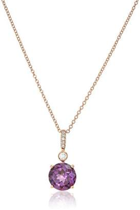 Effy Womens 14K Rose Gold Amethyst Pendant Necklace