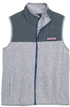 Vineyard Vines Sweater Fleece Quilted Vest