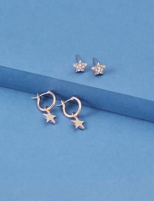 Lane Bryant Star Huggie & Stud Earrings Set
