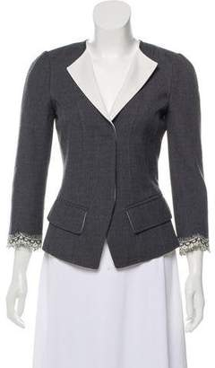 Andrew Gn Lace Trim Virgin Wool Jacket