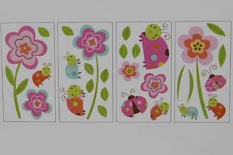 Graco Sweet Ladybug Floral Baby Girl Wall Decal Set Multi