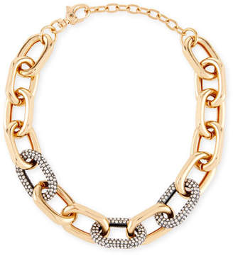 Lele Sadoughi Pave Crystal Link Necklace
