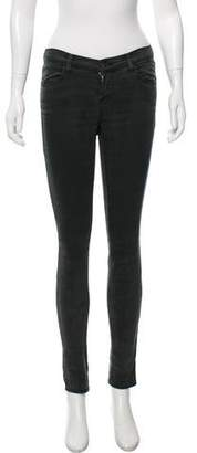 J Brand Super Skinny Mid-Rise Jeans