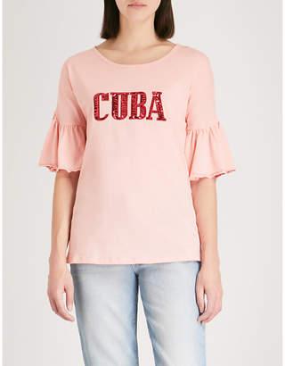 Sandro Cuba embroidered T-shirt