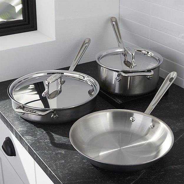 Crate & BarrelAll-Clad ® d5 ® 5-Piece Cookware Set