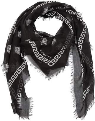Versace Greek Motif & Medusa Modal Silk Scarf