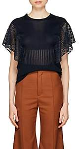 Chloé Women's Knit & Lace Top - Navy