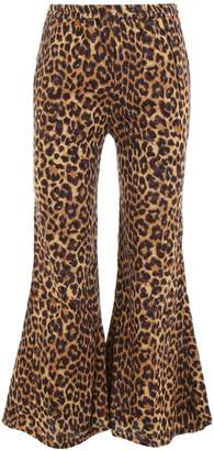 Mes Demoiselles Leopard-printed Flared Trousers
