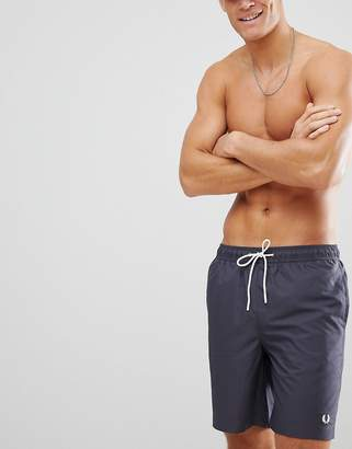 Fred Perry logo swim shorts in charcoal