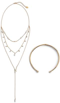 Sterling Forever Hearts on Fire Layered Necklace & Choker Set