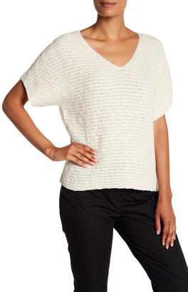 Eileen Fisher Short Dolman Sleeve Knit Sweater $198 thestylecure.com