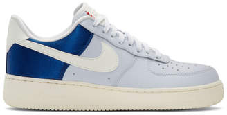 Nike Grey and Blue Air Force 1 07 QS Sneakers