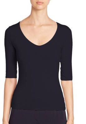 Armani Collezioni Stretch Knit Top $345 thestylecure.com