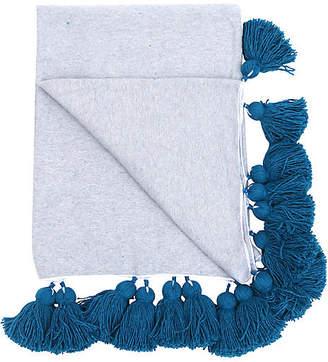 One Kings Lane Vintage Grey and Turquoise King Size Blanket - Habibi Imports