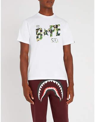 A Bathing Ape Bapesta logo-print cotton-jersey T-shirt