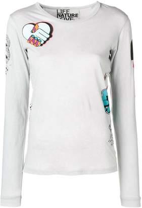 Freecity mixed print T-shirt