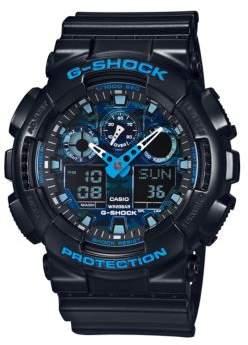 G-Shock G Shock Camo Face Resin Strap Watch, GA100CB1A