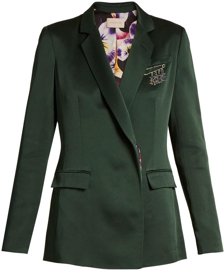 Christopher KaneCHRISTOPHER KANE Safety pin-embellished cady blazer