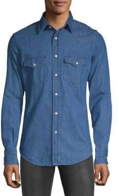 Tom Ford Classic Denim Button-Down Shirt