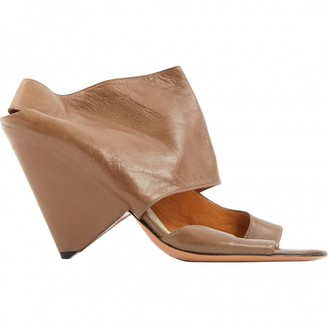 Maison Margiela Brown Leather Heels