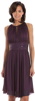 Jessica Howard Beaded Fit & Flare Halter Dress - Women's $150 thestylecure.com