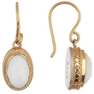 Anna Beck 18K Gold Plated Sterling Silver White Opal Drop Earrings