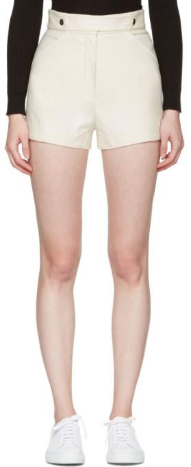 CourregesCourrèges Ivory Button Belt Shorts