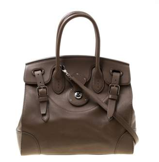 Ralph Lauren Ricky Beige Leather Handbags