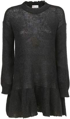 RED Valentino Sheer Knit Sweater Dress