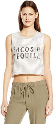 MinkPink Women's Taco's and Tequila Graphic Muscle Tank