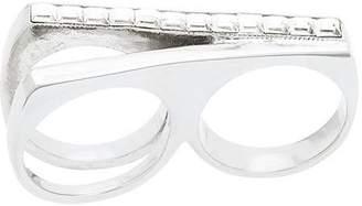 Saint Laurent studded two-finger ring