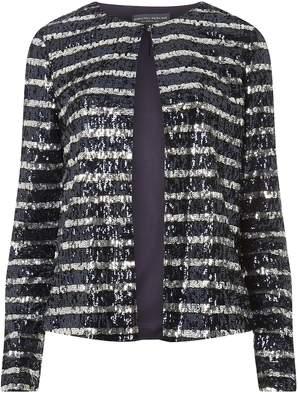 Dorothy Perkins Womens **Tall Multi Colour Sequin Stripe Blazer