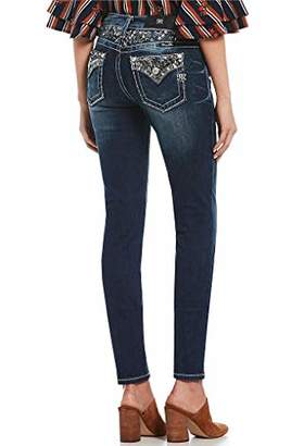 Miss Me Junior's Mid-Rise Embellished Skinny Jeans