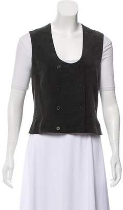 Calvin Klein Collection Silk Double-Breasted Vest