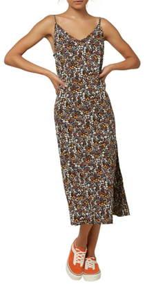 O'Neill Meeka Floral Print Midi Dress