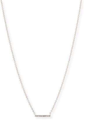 Ef Collection Mini Diamond Bar Pendant Necklace