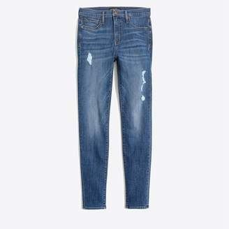 """J.Crew 10"""" high-rise skinny jean with distressed details"""
