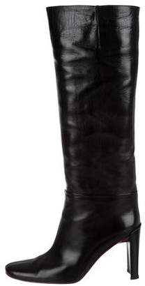 DKNY High-Heel Round-Toe Boots