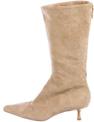 Jimmy Choo Corduroy Mid-Calf Boots